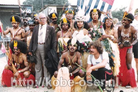 1982 Vierdaagse Nijmegen with President Marcus W. Kaisiepo